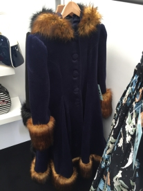 New navy Elvira coat