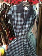 Dinette dress in blue check