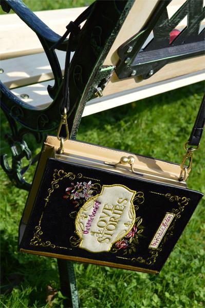 Vendula London Downton Black Book Cover Clutch Bag