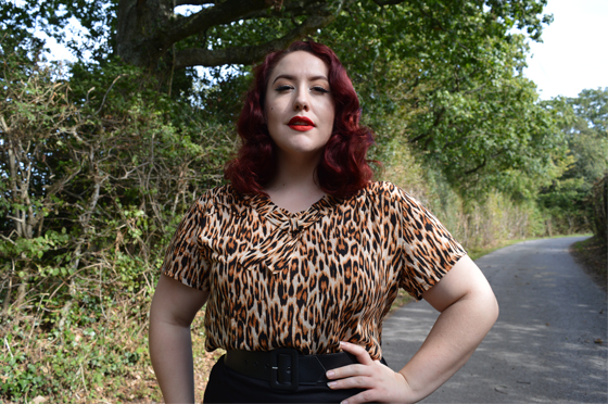 Miss Fortune UK Leopard Print Polly Blouse