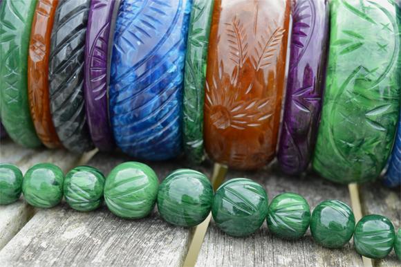 Splendette Fakelite Handmade Carved bangles AW16