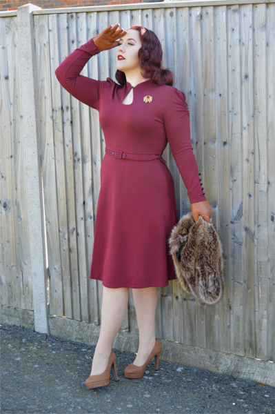 Voodoo Vixen Red Dita Dress