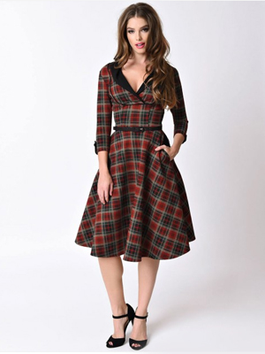 Unique Vintage Trudy Tartan dress