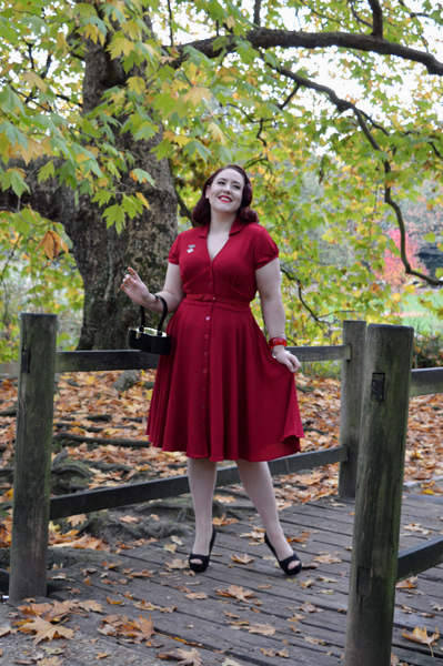 Hell Bunny Keely Dress Burgundy Red