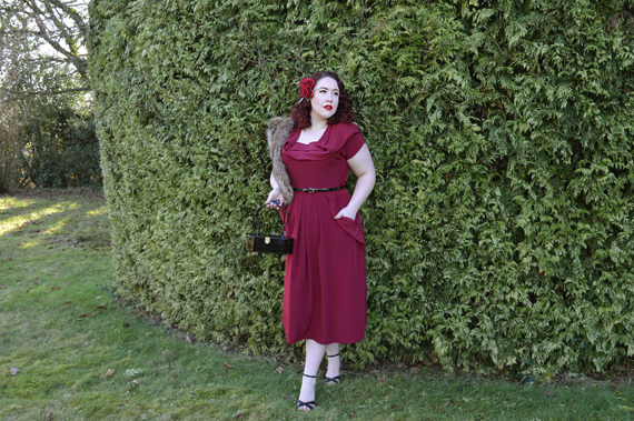 Claret Lana Dress vivien of Holloway