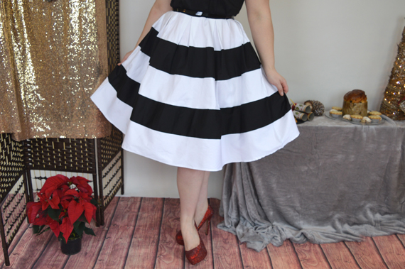 Dolly & dotty Black White Stripe Anna