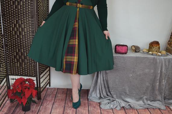 Miss Candyfloss Ella-Gia Tartan dress Miss Victory Violet