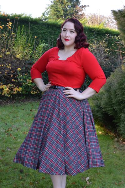 Red Sophie Top Voodoo Vixen Top Vintage Irena