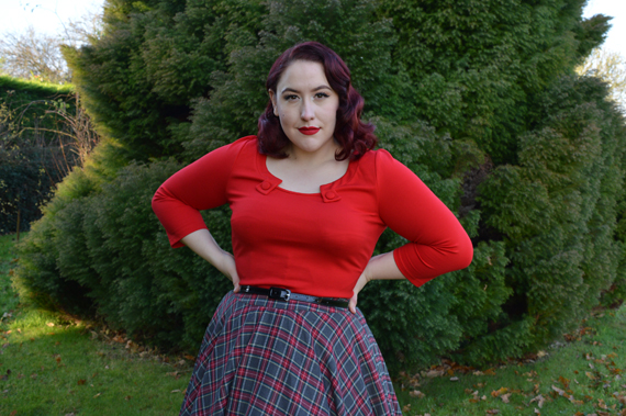 Red Sophie Top Voodoo Vixen Top Vintage Irena