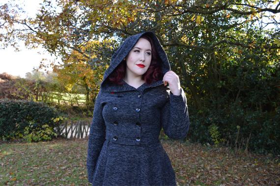 Collectif Sparkle Tweed Rosie Skirt Heather Cropped Hooded Jacket