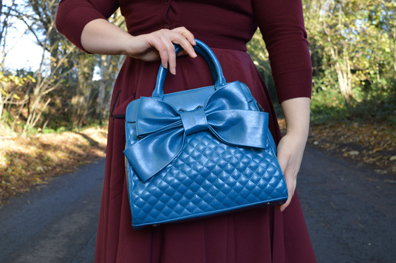Voodoo Vixen Wrapped In A Bow Bag Blue