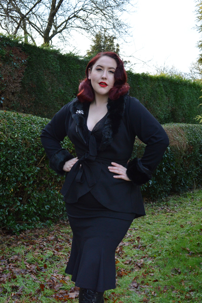 Black Divine Jacket Heart of Haute Deadly is the Female