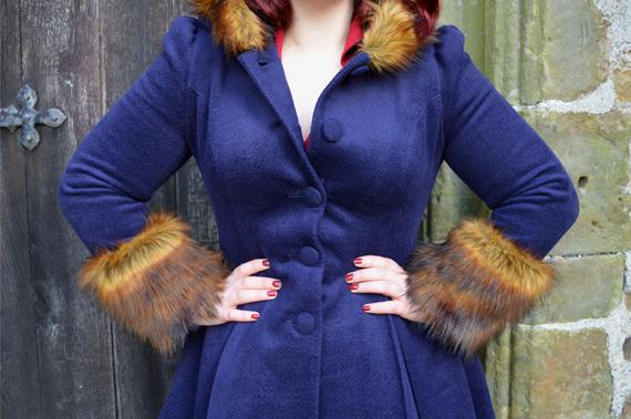 Navy Hell Bunny Isadora Coat