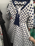 Polka dots and a sailor tie feel