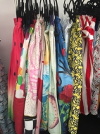 Rack of novelty skirts