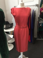 Gorgeous shift dress in a vibrant coral
