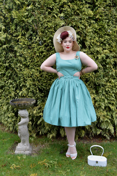Collectif green Talis swing skirt Talis Pinafore top