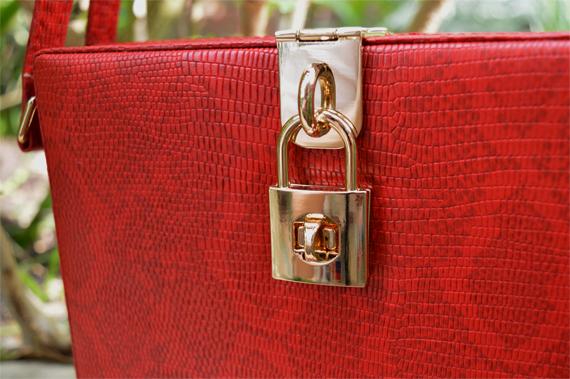 Blue Banana Snakeskin red clutch bag Hell Bunny Lighthouse 50s dress