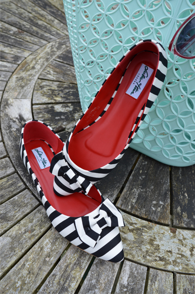 Becca Striped Flats by Lulu Hun