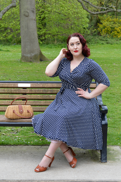 Unique Vintage Kelsie Wrap Dress