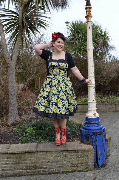 Hell Bunny Leandra 50s lemon print dress