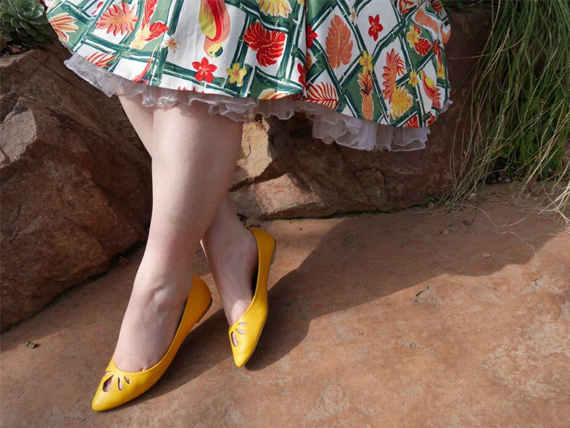 Collectif Lulu Hun Lidia Yellow flats