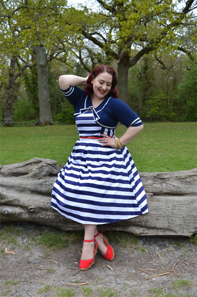 Dolly and Dotty Lana striped strapless dress