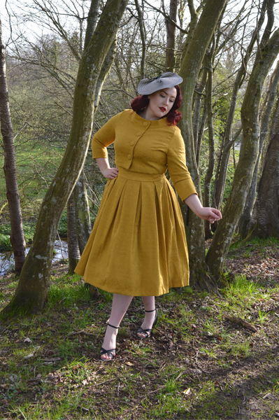 88778d3d33c2 ... Lindy Bop Mustard Marianne Swing dress jacket set ...