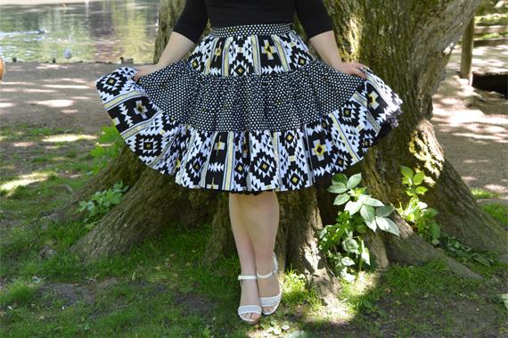 Lil' Lou Lou Boogie Woogie Southwestern skirt