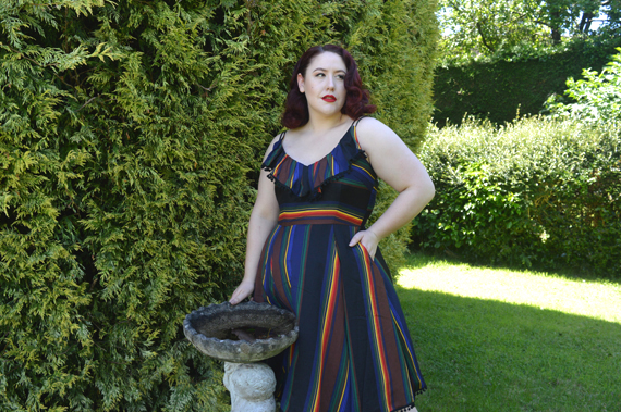 Voodoo Vixen Adelyn striped dress