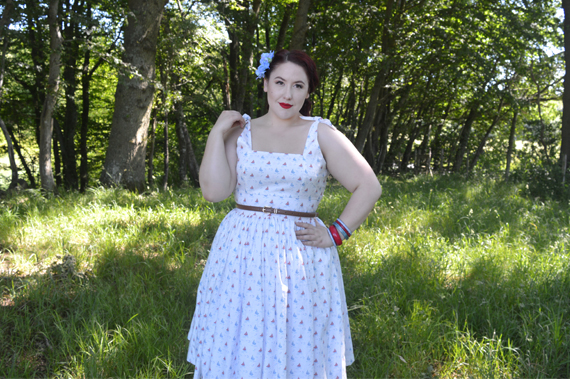 Hearts and Found custom made Gilda dress