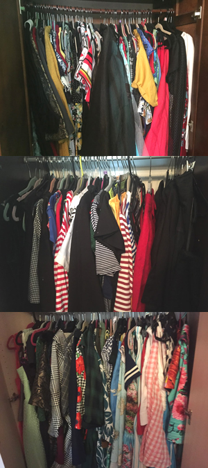 Inside closets 1, 2 and 3