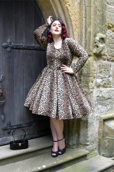 f0face2fee ... Wild Leopard Troublemaker swing dress Vixen by Micheline Pitt Deadly is  the Female ...