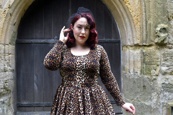 Wild Leopard Troublemaker swing dress Vixen by Micheline Pitt Deadly is the Female