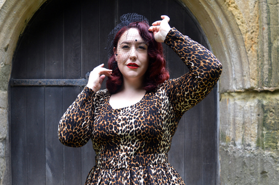897e4b426a ... Wild Leopard Troublemaker swing dress Vixen by Micheline Pitt Deadly is  the Female