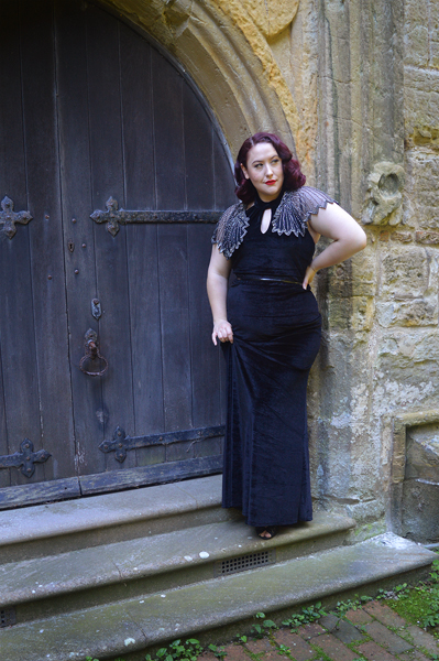 black Eleanor dress by Dolly & Dotty