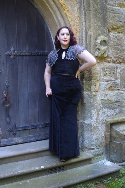black Eleanor dress by Dolly & Dotty
