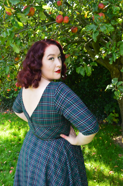 Hell Bunny Peebles 50s tartan dress
