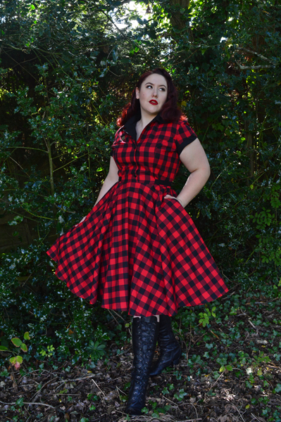 Heart of Haute Red Buffalo Gingham Dinette dress