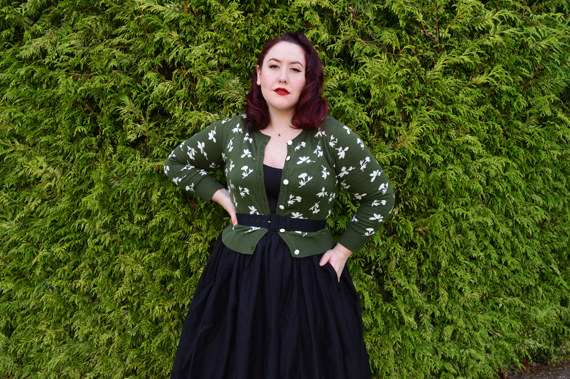 Collectif vintage Jessie floral Jacquard cardigan