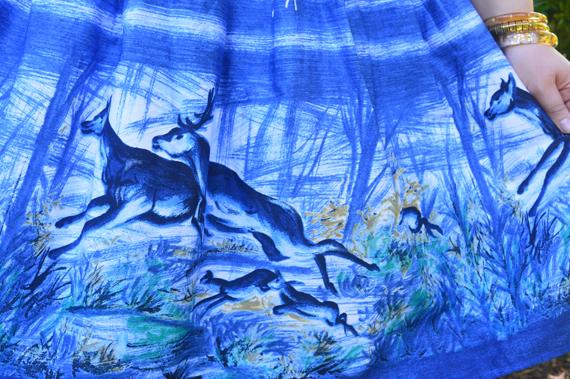 Hell Bunny Montana print skirt plus size