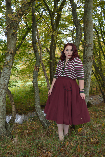 Collectif Vintage Holly Chevron patterned cardigan