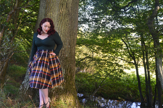 Aubree-Gia top Tiffany-Lee tartan skirt by Miss Candyfloss