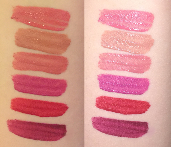 Rimmel London Stay Matte liquid lipstick swatches Pink Bliss, Be My Baby, Pink Blink, Heartbeat, Firestarter, Plum This Show