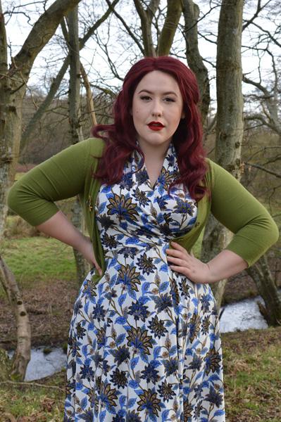 Karina dresses Grecian Gardens Ruby dress