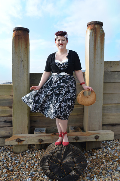 Hell Bunny 50s Mistral dress Black Loretta cardigan plus size discount code AMYMAY20!%