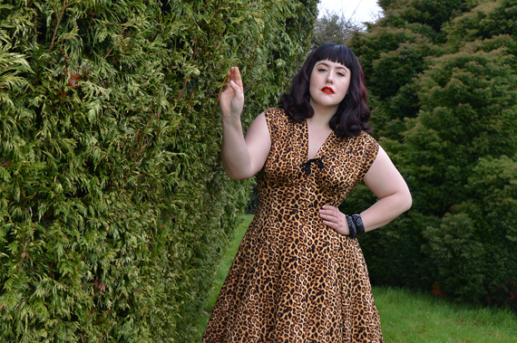 Raquel Leopard Print dress by Wax Poetic Clothing Miss Amy May