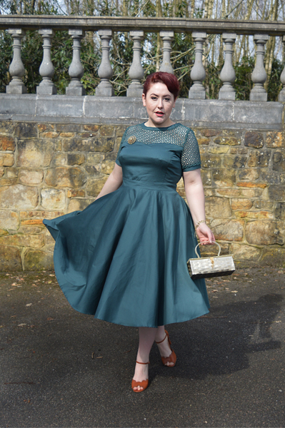 Miss Amy May Dolly and Dolly Tessa green dress giveaway winner