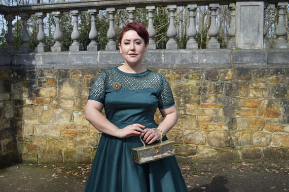 Dolly and Dotty Green Tessa cut out lace swing dress Miss Amy May Giveaway Contest win a dress of your choice from Dolly & Dotty