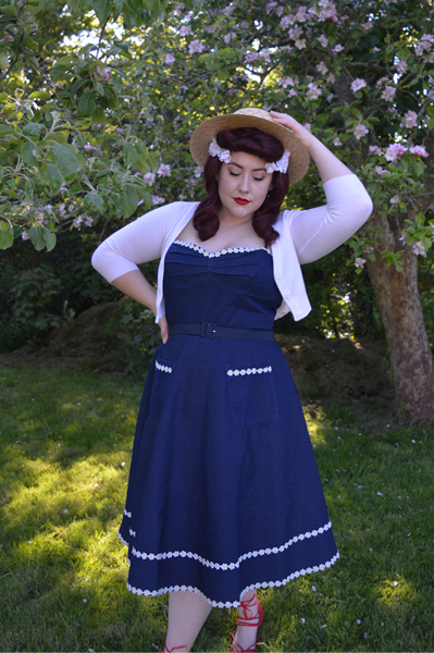 Daisy May dress by Voodoo Vixen Curve plus size denim dress